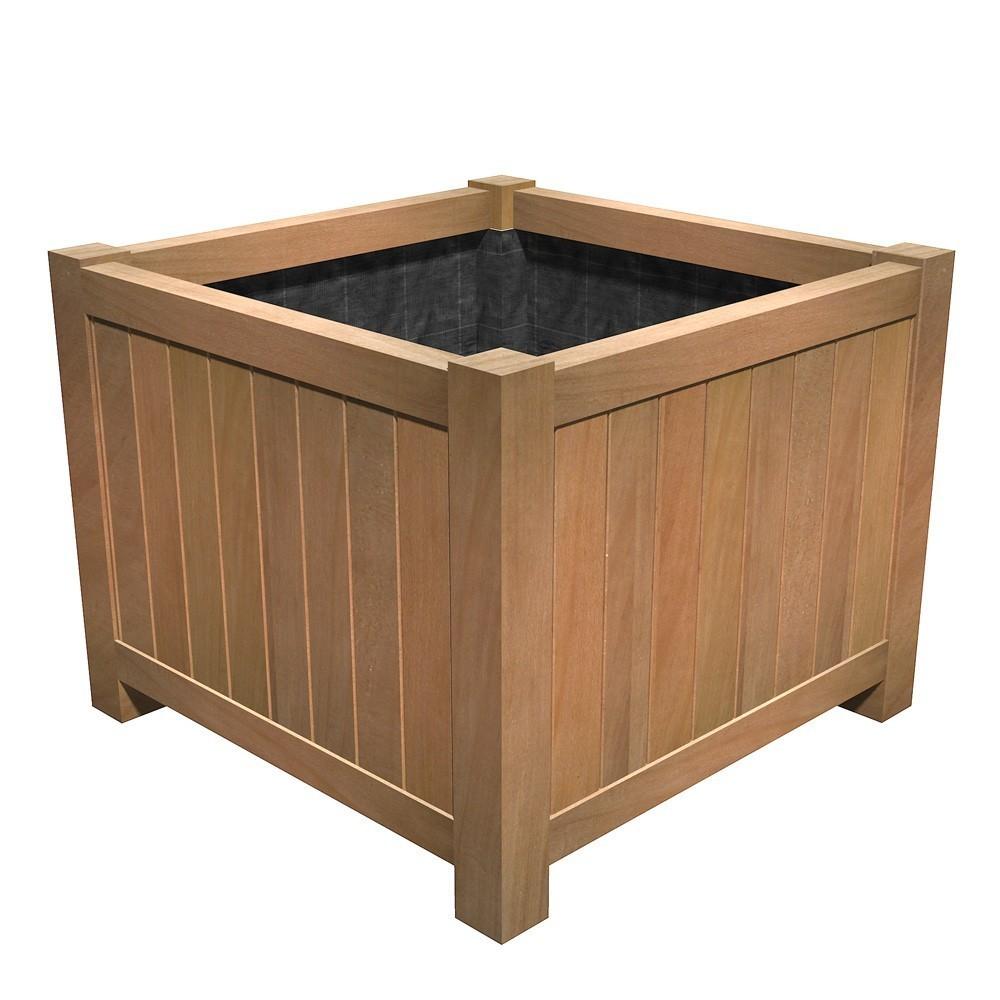 Jardiniere cubique kota pour paysagistes et collectivit - Jardiniere haute en bois ...