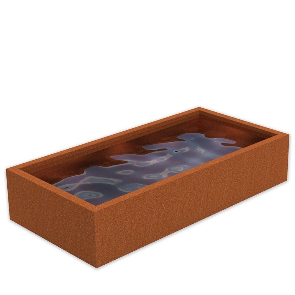 Bassin acier corten sur mesure en acier corten for Liner sur mesure pour bassin