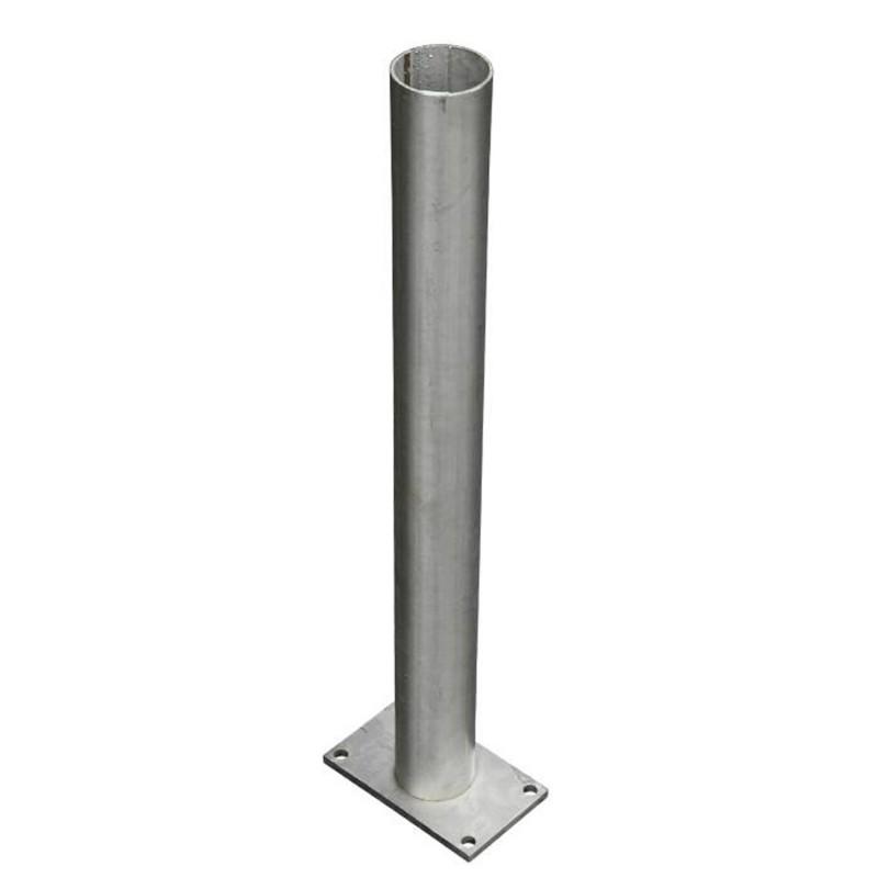 platine inox pour poteau aluminium l60cm pour paysagistes et collectivit. Black Bedroom Furniture Sets. Home Design Ideas