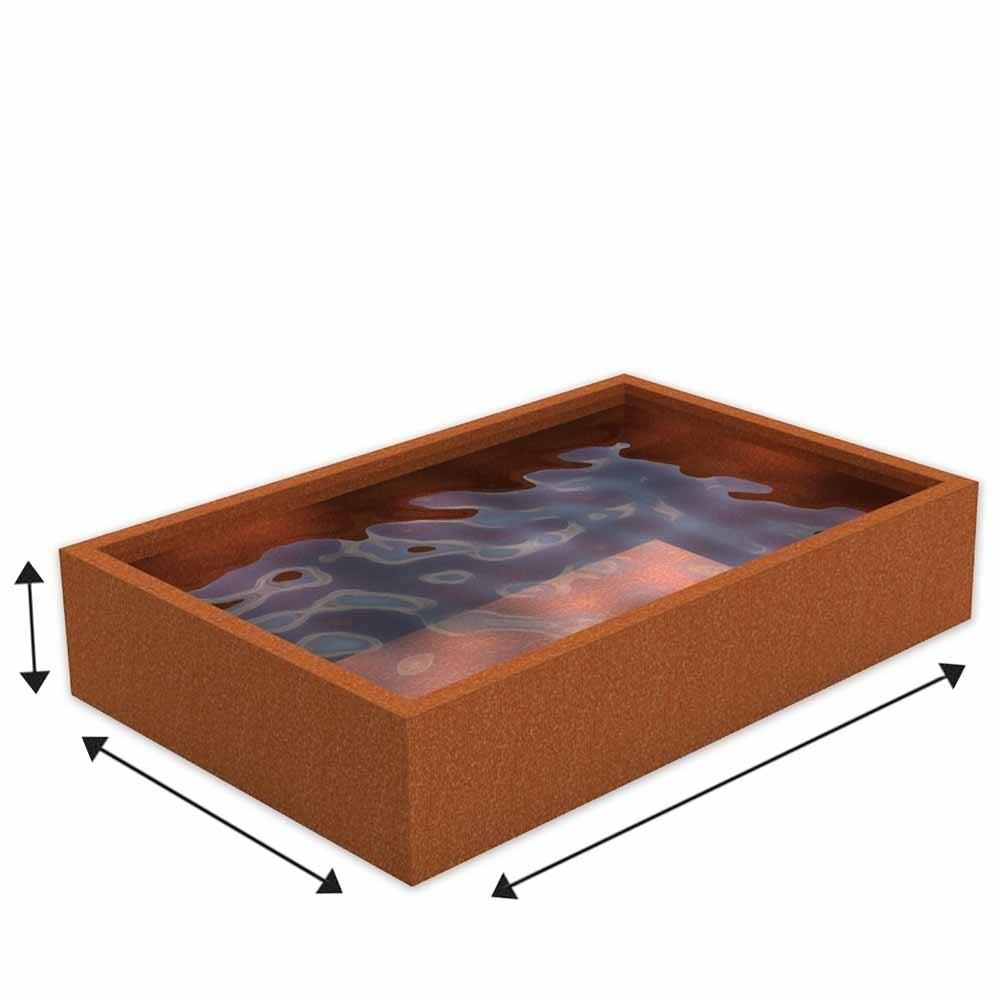bassin acier corten sur mesure en acier corten. Black Bedroom Furniture Sets. Home Design Ideas
