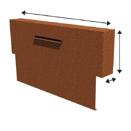 bassin ext rieur en aluminium et en acier corten et paroi de bassin en alumimum et acier corten. Black Bedroom Furniture Sets. Home Design Ideas