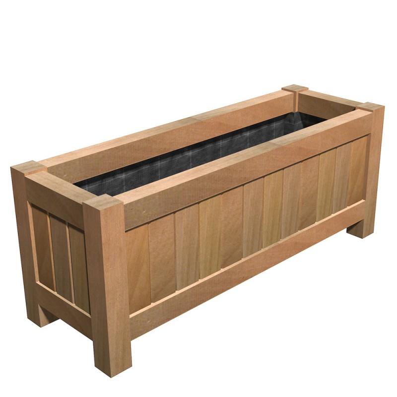 jardiniere bangkirai java so garden. Black Bedroom Furniture Sets. Home Design Ideas