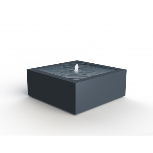 TABLE D'EAU ALUMINIUM CARREE PERSONNALISEE