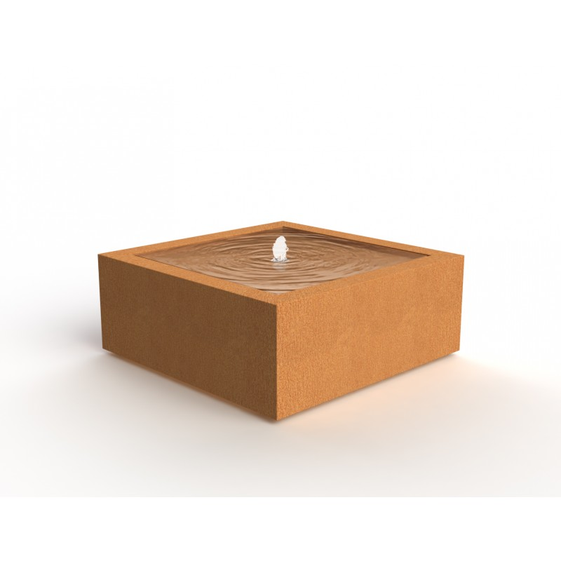 TABLE D'EAU CARREE EN CORTEN