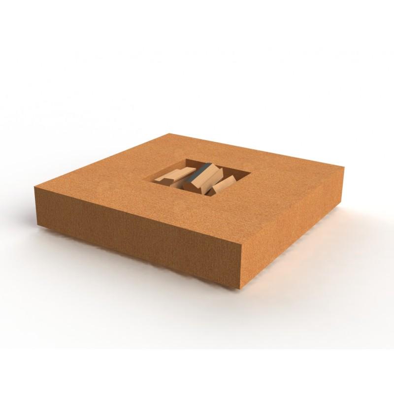 TABLE DE FEU ACIER CORTEN BRAVA
