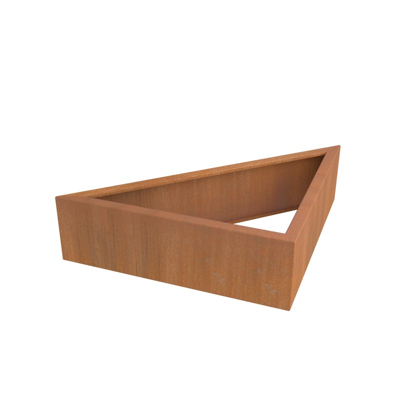 CARRE POTAGER CORTEN MODULE TRIANGLE