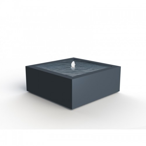 TABLE D'EAU ALUMINIUM CARRÉE 800x800x400mm