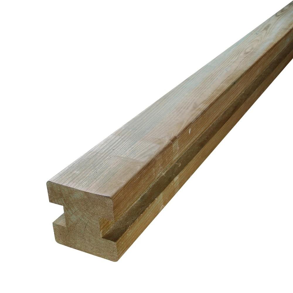 Poteau pin traite autoclave en h 9x9x240cm pour - Peinture pour bois autoclave ...
