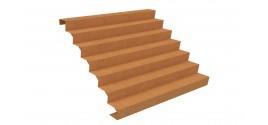 Escaliers en acier Corten