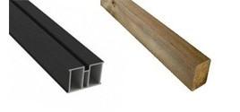 Lambourdes bois traité et aluminium